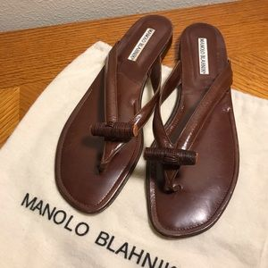 Manolo Blahnik leather sandals size 40